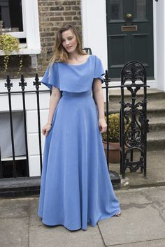 The Dressmakers Ball - By Hand London Elisalex Dress sewing pattern with added neckline capelet