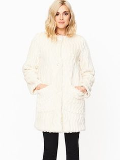 Fearne Cotton Textured Faux Fur Coat