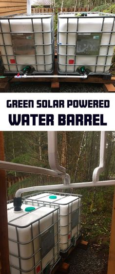 How to Build a Green Solar Powered Water Barrel