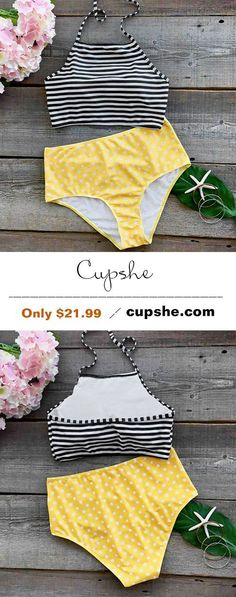 Live life on the beach~ Only $21.99 with latest fashion, better quality! This unique tankini will be a good choice for your poolside party or beach vacation. Hold on to it at Cupshe.com !
