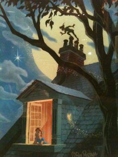 Second Star To The Right... I was in love with peter pan when I was little
