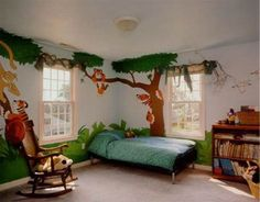 Wish I could draw. I'd do this for my boys playroom