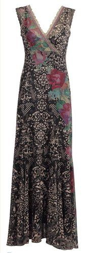 Gorgeous Michal Negrin Dress Made of Printed Lycra with Floral Print Glitter | eBay