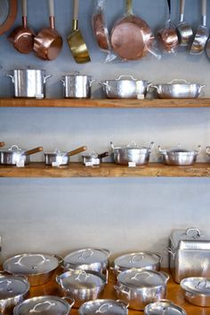 hand hammered kitchenware // Westside33 in Kyoto