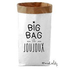 Paper bag Big bag à joujoux - Marcel et Lily - fée pas ci, fée pas ça