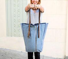 große Tasche zum Einkaufen oder für die Schule selber machen