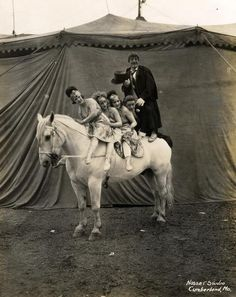 Vintage circus. Add a clown and this would be totally spooky.