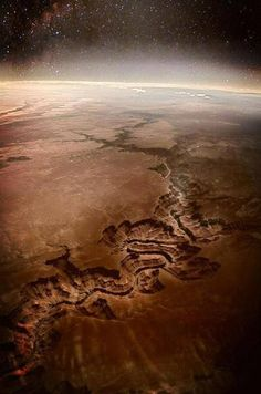 Grand Canyon seen from space, USA.