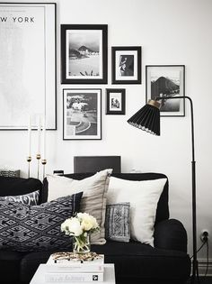 A Swedish home with dramatic black accents