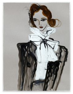 Tanya Ling illustration - Chanel aw11