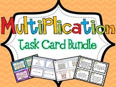 152 Multiplication Task Cards! Skills include Multiplication Word Problems, Factors & Multiples, Arrays, Multiplication OR Division?, and Writing Equations and Solving Task Cards. Common Core Aligned.