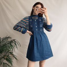 eabe73640e9 16 Best Denim Pinafore Dress images