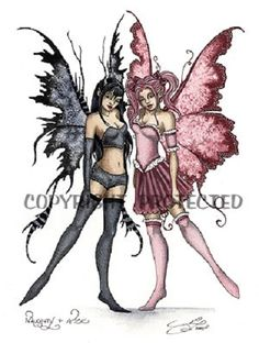Fairy and fantasy art images, fairy pictures & drawings, flower and butterfly illustrations from Fairies World. Fairies World, Fairy & Fantasy Art Gallery - Amy Brown/Naughty and Nice© Elfen Fantasy, Fantasy Art, Amy Brown Fairies, Dark Fairies, Fantasy Fairies, Fairy Drawings, Fairy Tattoo Designs, Ange Demon, Fairy Pictures