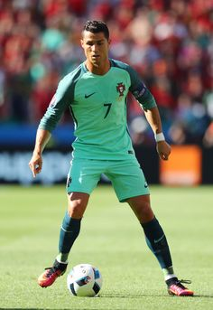 Cristiano Ronaldo of Portugal in action during the UEFA EURO 2016 Group F match between Hungary and Portugal at Stade des Lumieres on June 22, 2016 in Lyon, France.