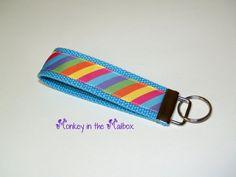 Rainbow Key Fob Key Chain Key Ring Key by MonkeyintheMailbox