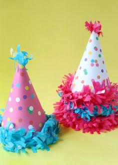 Free printable confetti sprinkle party hat templates