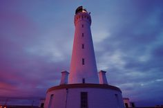 Night shot of Covesea Skerries lighthouse, Lossiemouth, Morayshire, Scotland