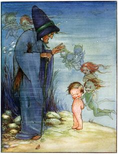 Tom and Mrs. Bedonebyasyoudid - The Water Babies by Charles Kingsley, 1915