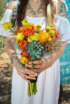 Hippy styled wedding shoot by Tyler Greene
