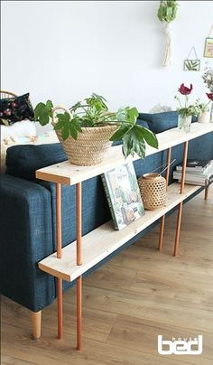 Tuto: Make a design wooden sofa behind - DIY Decor Ideas Decor Room, Living Room Decor, Diy Home Decor, Canapé Design, Sofa Design, Furniture Makeover, Diy Furniture, Rustic Furniture, Furniture Vintage