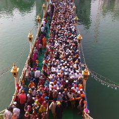 Through the pearly gates of heaven  at darbar sahib amritsar punjab