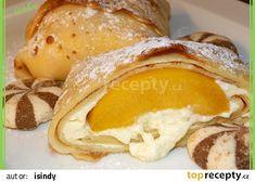 Zapečené palačinkové balíčky s broskví a tvarohem recept - TopRecepty.cz Pancakes, French Toast, Food And Drink, Bread, Breakfast, Gardening, Breakfast Cafe, Pancake, Garten