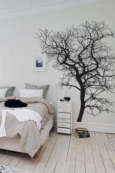 The tree is approximately wide and high. Wall Decals, Bed, Range, Home Decor, Cookers, Decoration Home, Wall Stickers, Stream Bed, Room Decor