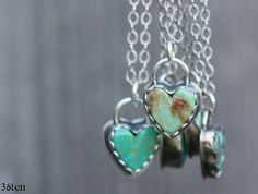 Reserved for Allison - Turquoise Heart Necklace, sterling silver heart necklace, southwestern necklace