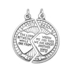 Mizpah Break Apart Coin Charm -- Find out more about the great product at the image link. (This is an affiliate link and I receive a commission for the sales)