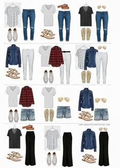 33 Trendy Dress Spring Casual Denim Shorts dress is part of Capsule outfits - Capsule Outfits, Fashion Capsule, Mode Outfits, Capsule Wardrobe, Fall Outfits, Summer Outfits, Fashion Outfits, Jean Outfits, School Outfits