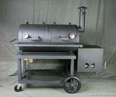 Reverse Flow Smoker  Heavy Duty Horizontal Smoker  Texas BBQ