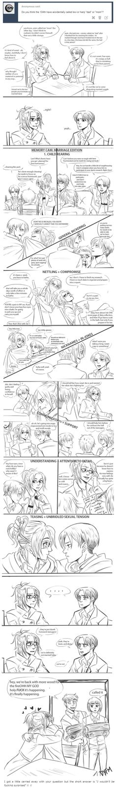 It's stuff like this that tears me up, cause I ship Ereri so hard, but LevixHanji makes me so happy!!