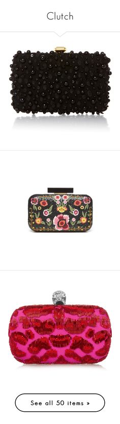"""""""Clutch"""" by bayoubijou ❤ liked on Polyvore featuring bags, handbags, clutches, purses, bolsas, black, beaded purse, beaded clutches, man bag and beaded handbags"""