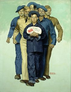 Norman Rockwell Willie Gillis | Norman Rockwell 1894-1978 · American Willie Gillis: Package From Home ...