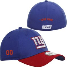 Men's New Era New York Giants Customized TD Classic 39THIRTY® Structured Flex Hat - NFLShop.com