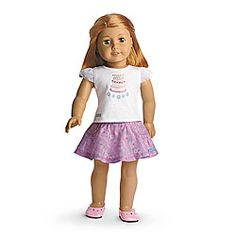 American Girl® Dolls: Happy Birthday Outfit & Accessories for Dolls American Girl Outfits, American Girl Doll Sets, American Girl Crafts, American Girls, American Girl Birthday, Birthday Accessories, Bday Girl, Ag Doll Clothes, Girl Dolls