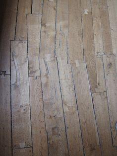 Excellent old floor joinery inside Leeds Castle