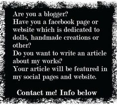 #blog #blogger #doll #dolls #artdoll #interview #horror #gothic #goth #dark #magazine Share! info@littlepsycholilith