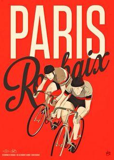 Bike Paris a illustration Poster #cycling