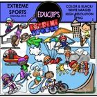 Extreme Sports Clip Art Bundle {Educlips Clipart}