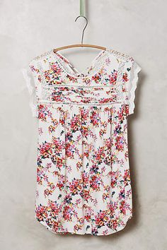 Nellore Blouse - anthropologie.com #anthroregistry Perfect top to wear at home as I garden. Bright lips.