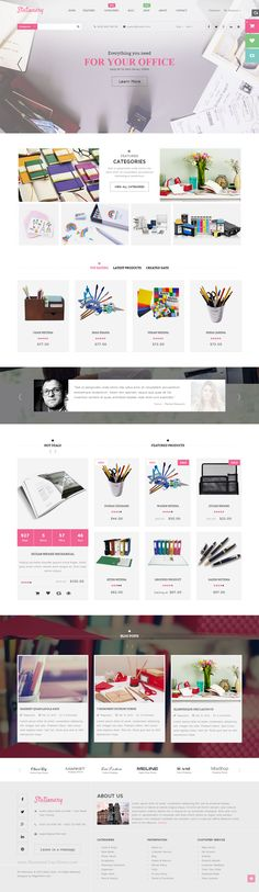 #Stationery – Everything you need to office supplies store. The Responsive #Magento theme crafted for products related to office store or any other products. Coming with 5 homepage layout styles that adapt to all your requirements.