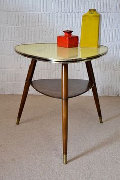 Rockabilly 50er NIERENTISCH COUCHTISCH TISCH GLAS COFFEE TABLE Vintage 50s 2 | eBay