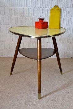 Rockabilly 50er NIERENTISCH COUCHTISCH TISCH GLAS COFFEE TABLE Vintage 50s 2 | eBay