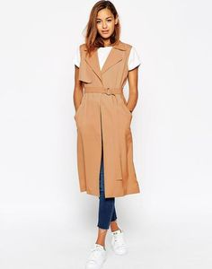 Find the best selection of ASOS Sleeveless Duster. Shop today with free delivery and returns (Ts&Cs apply) with ASOS! Sleeveless Duster, Asos, Crop Top Outfits, Clothing Co, Fashion Outfits, Fashion Trends, Fashion Looks, Jackets, Clothes