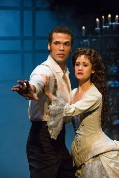 Jordan Donica and Ali Ewoldt in The Phantom of the Opera