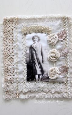 Vintage wall hanging, great for old photos