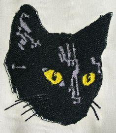 Large Black Cat Patch by SamsWorld360 on Etsy, $5.00