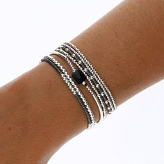 FIBO STEEL 6 Sets Bohemian Stackable Bead Bracelets for Women Stretch Multilayered Bracelet Set Multicolor Jewelry – Fine Jewelry & Collectibles Seed Bead Bracelets, Bangle Bracelets, Black Bracelets, Diy Bracelets Elastic, Bracelets Fins, Beaded Jewelry, Handmade Jewelry, Jewelry Necklaces, Diy Jewelry