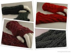 Hand Knit Fingerless Gloves by ToppyToppyKnits, $21.00